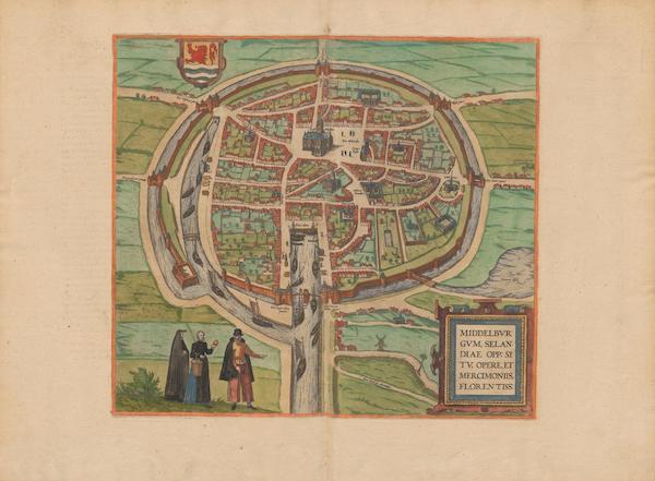 Civitates Orbis Terrarum Vol. 2 - Middelbvrgvm Selandiae Opp (1575)