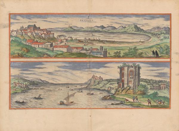 Civitates Orbis Terrarum Vol. 2 - Pvteoli and Baiae (1575)