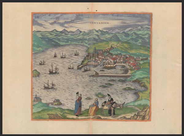 Civitates Orbis Terrarum Vol. 2 - Santander (1575)