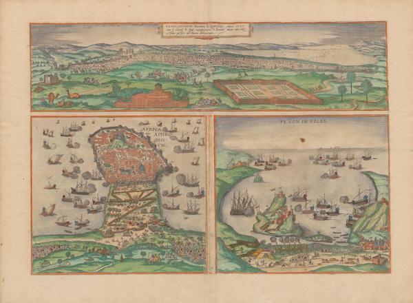 Civitates Orbis Terrarum Vol. 2 - Tvnes 1535 Africa Olim Aphodisivm Penon De Veles (1575)