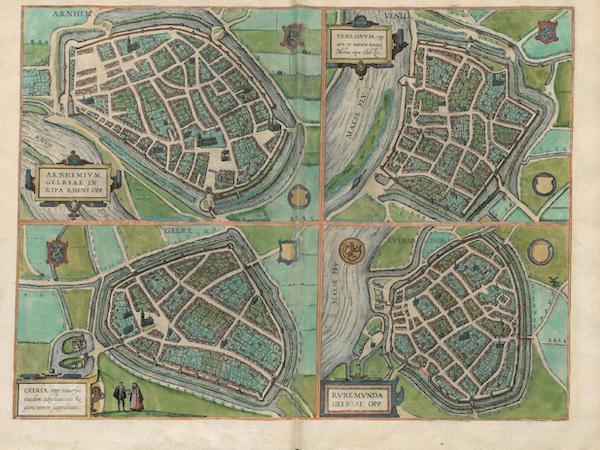 Civitates Orbis Terrarum Vol. 3 - Arnhem Gelre Venlo et Rvermonde (1581)