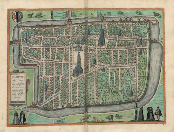 Civitates Orbis Terrarum Vol. 3 - Delphvm Or Delft (1581)
