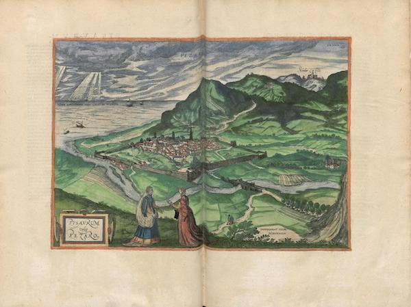 Civitates Orbis Terrarum Vol. 3 - Pisavrum or Pezaro (1581)