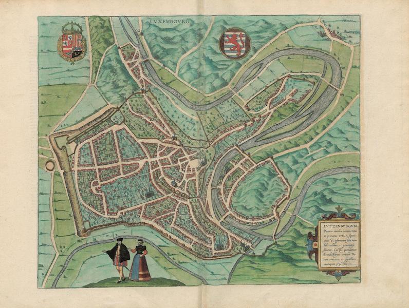 Civitates Orbis Terrarum Vol. 3 - Luxembovrg (1581)