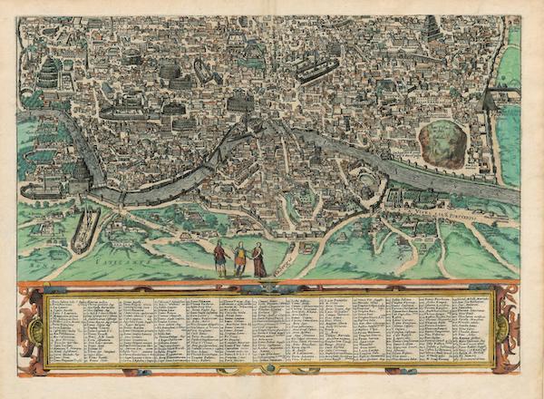 Civitates Orbis Terrarum Vol. 4 - Antiqvae Vrbis Romae Imago Accvratiss Bottom (1588)
