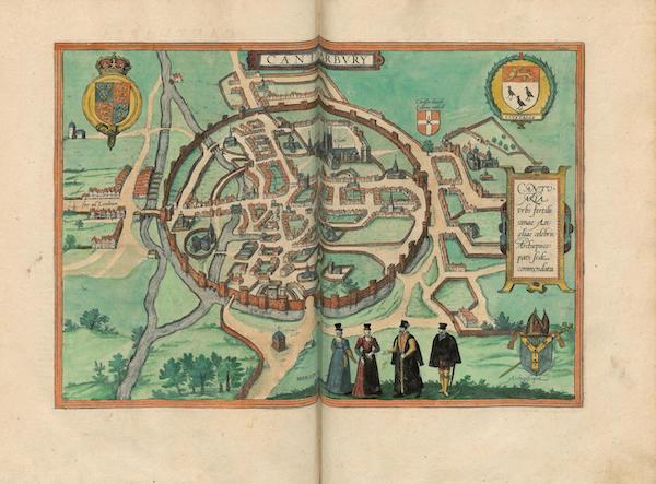 Civitates Orbis Terrarum Vol. 4 - Cantvarbvry (1588)