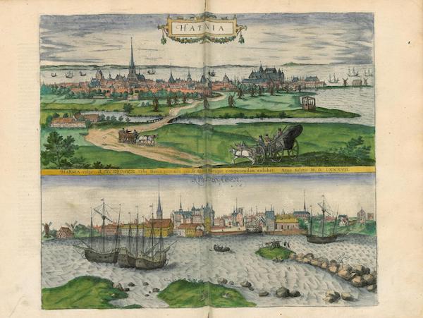 Civitates Orbis Terrarum Vol. 4 - Hafnia Vulgo Kopenhagen 1587 et Kopenhagen (1588)