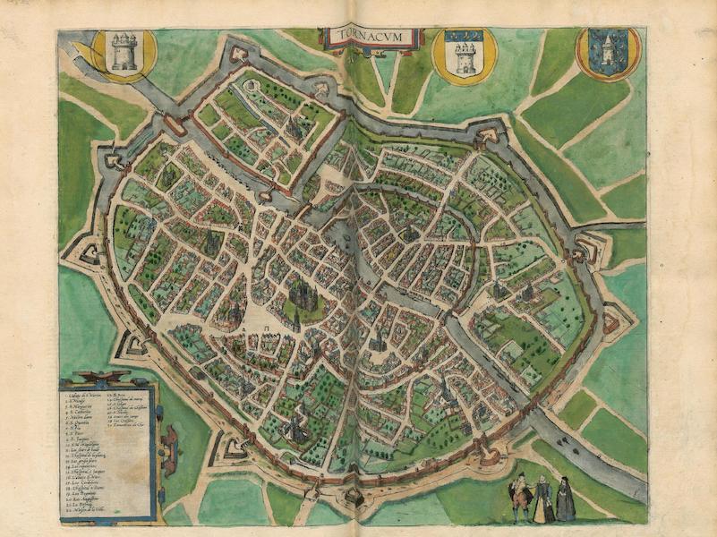 Civitates Orbis Terrarum Vol. 4 - Tornacvm (1588)
