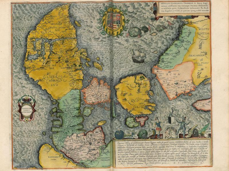 Civitates Orbis Terrarum Vol. 4 - Danorum Marca Uel Cimbricum 1585 (1588)