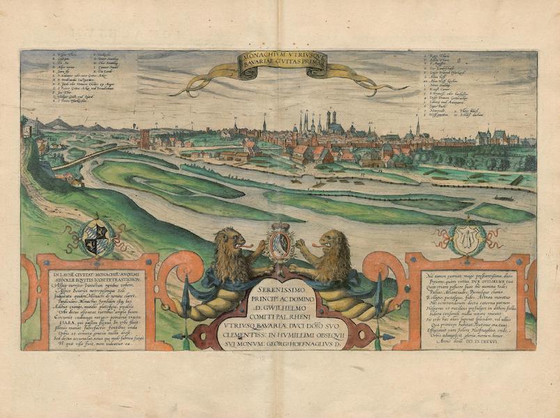 Civitates Orbis Terrarum Vol. 4 - Monachivm Vtrivsqve Bavariae Civitas Primar 1586 (1588)