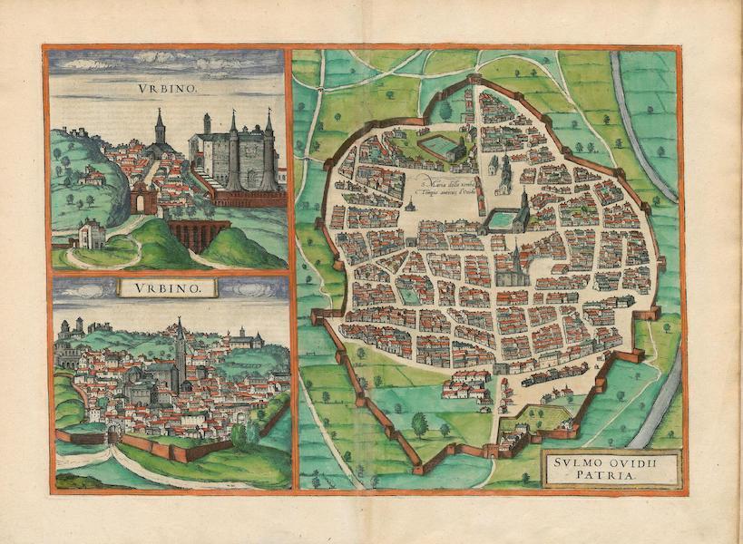 Civitates Orbis Terrarum Vol. 4 - Svlmo Ovidii Patria Vrbino (1588)