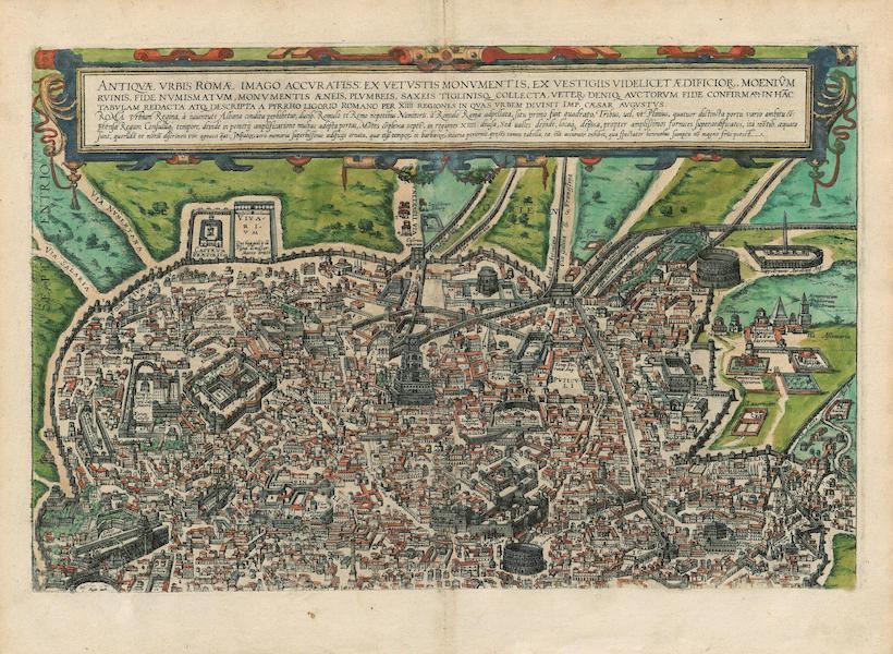 Civitates Orbis Terrarum Vol. 4 - Antiqvae Vrbis Romae Imago Accvratiss Top (1588)