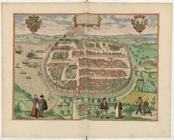 Civitates Orbis Terrarum Vol. 5 - Bardvm Pomeraniae (1596)