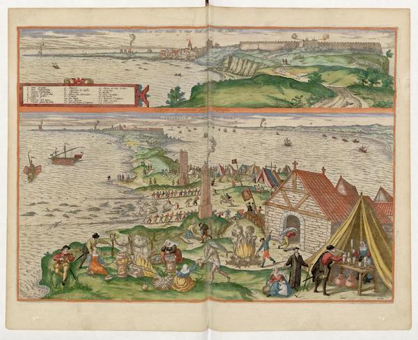 Civitates Orbis Terrarum Vol. 5 - Cadiz Almodraua De Cadiz (1596)