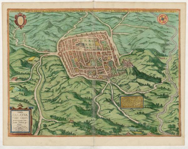 Civitates Orbis Terrarum Vol. 5 - Calatia Vulgo Caiazo 1597 (1596)
