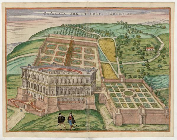 Civitates Orbis Terrarum Vol. 5 - Caprarola Arx et Horti Farenesiani (1596)