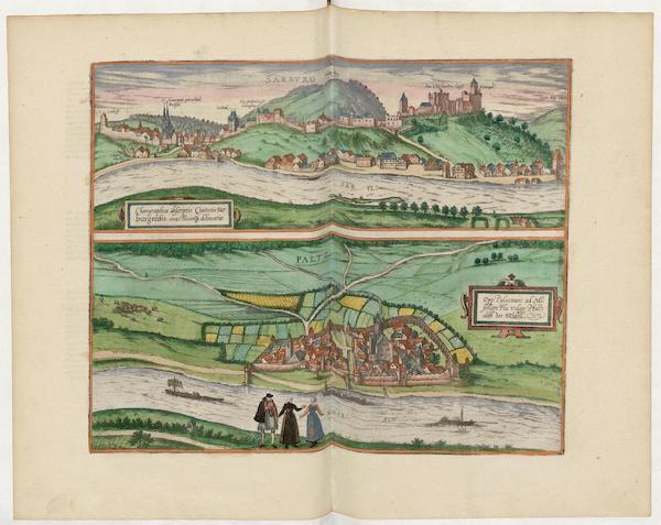 Civitates Orbis Terrarum Vol. 5 - Chorographica Descriptio Civitatis Sarburgensis (1596)
