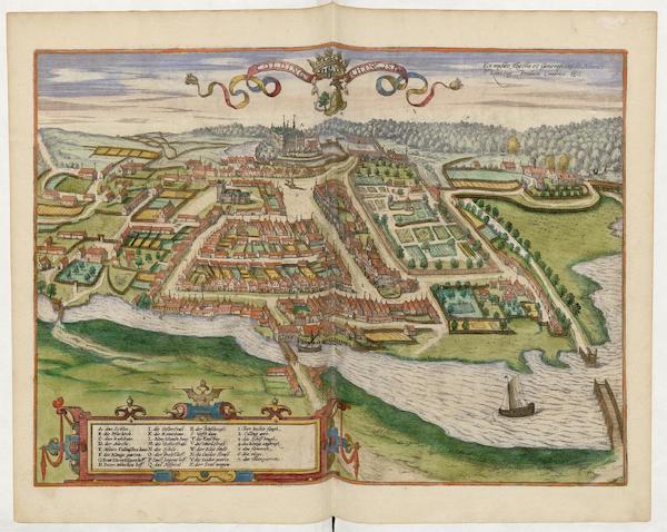 Civitates Orbis Terrarum Vol. 5 - Colding Schloss Vnd Stat (1596)