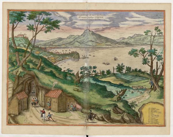 Civitates Orbis Terrarum Vol. 5 - Elegantissimus Ad Mare Tyrrhenum Ex Monte Pausilipo Neapolis (1596)