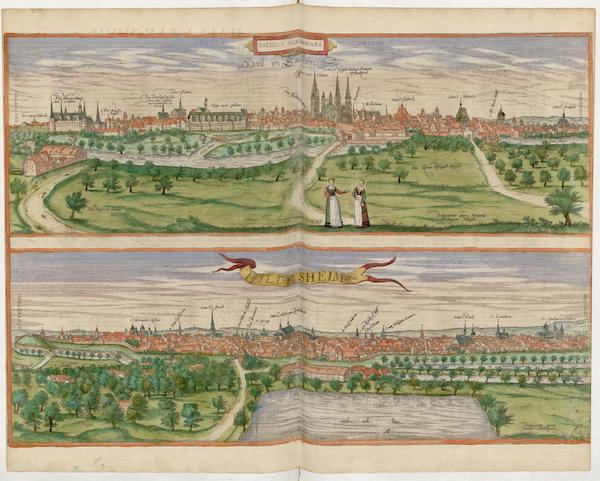 Civitates Orbis Terrarum Vol. 5 - Hall In Sachsen et Hildsheim (1596)