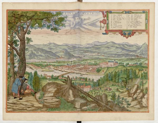 Civitates Orbis Terrarum Vol. 5 - Linsvm Avstriae Vulgo Lintz 1594 (1596)