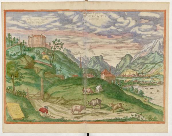 Civitates Orbis Terrarum Vol. 5 - Oenipontis Prospectus (1596)