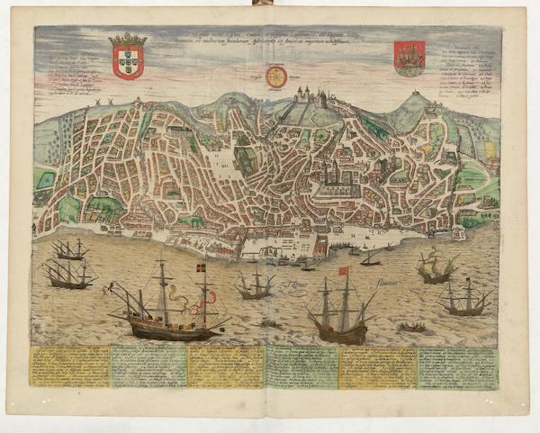 Civitates Orbis Terrarum Vol. 5 - Olissippo Quae Nunc Lisboa (1596)
