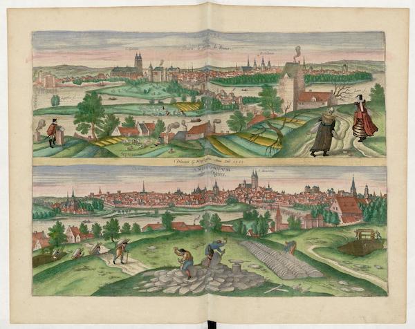 Civitates Orbis Terrarum Vol. 5 - Tvrones Vulgo Tours Adegavvm Vulgo Angiers 1561 (1596)