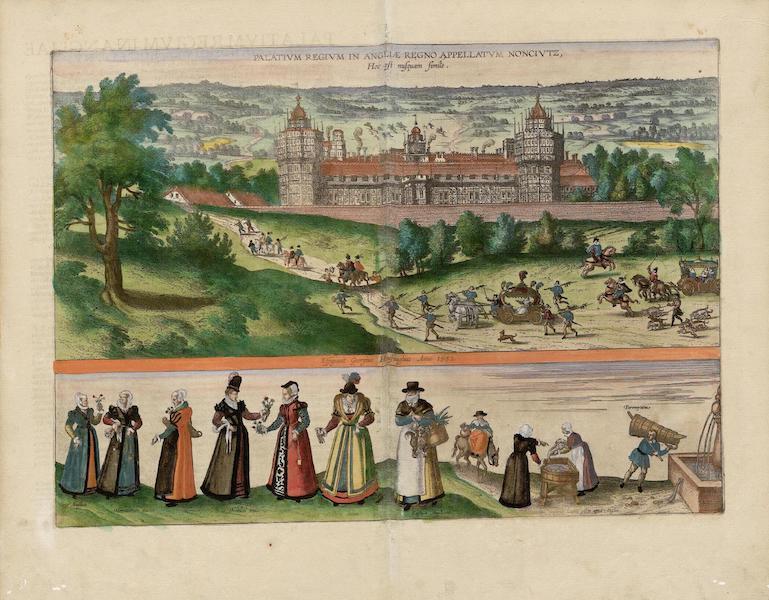 Civitates Orbis Terrarum Vol. 5 - Palativm Regivm In Angliae Regno Noncivtz Hoc Est Nvsqvam Simile Dictvm 1582 (1596)