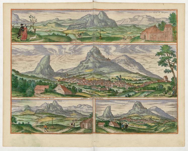 Civitates Orbis Terrarum Vol. 5 - Archidona La Penna De Los Enamorados Penna Et Archidona 1565 (1596)