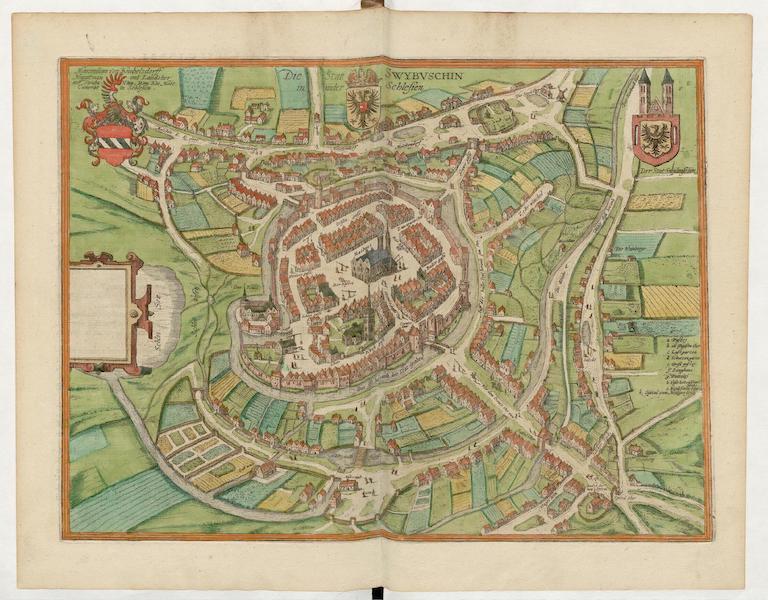 Civitates Orbis Terrarum Vol. 5 - Die Stat Swybvschin In Nider Schlesien (1596)