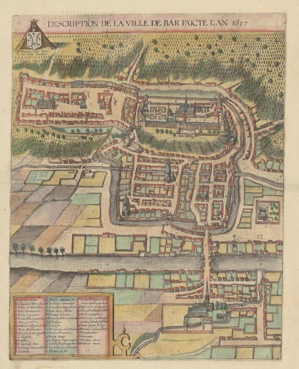 Description De La Ville De Bar Faicte L An 1617