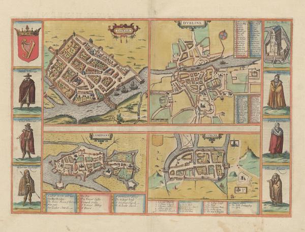 Civitates Orbis Terrarum Vol. 6 - Galwaye Dvbline Lymericke et Corcke (1617)