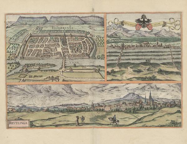 Civitates Orbis Terrarum Vol. 6 - Hailbrvnna Mvlhvsivm et Revtlinga (1617)