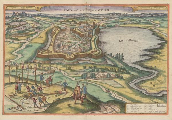 Civitates Orbis Terrarum Vol. 6 - Papa Inferioris Hungariae Oppidvm (1617)
