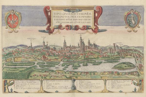 Civitates Orbis Terrarum Vol. 6 - Tipvs Civitatis Lvblinesi In Regno Poloniae (1617)