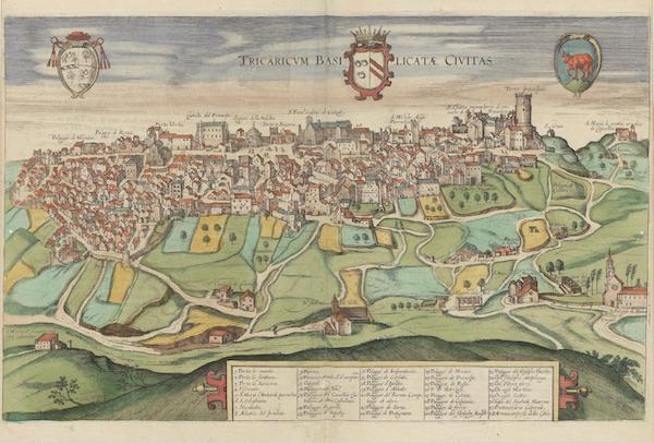 Civitates Orbis Terrarum Vol. 6 - Tricaricvm Basilicatae Civitas (1617)