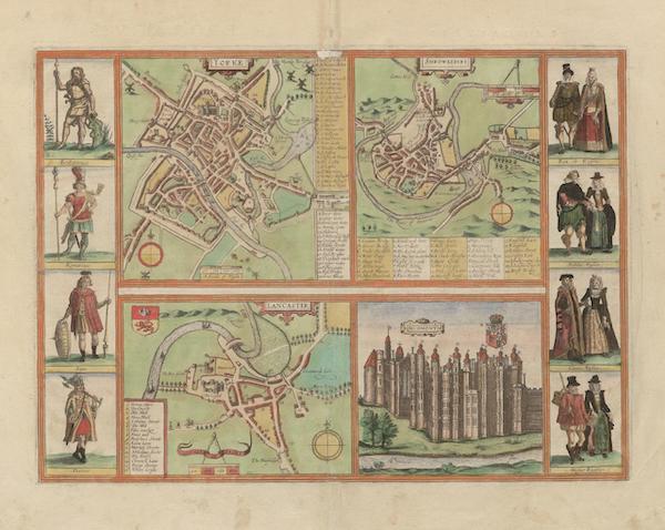 Civitates Orbis Terrarum Vol. 6 - Yorke Shrowesbvry Lancaster et Richmont (1617)