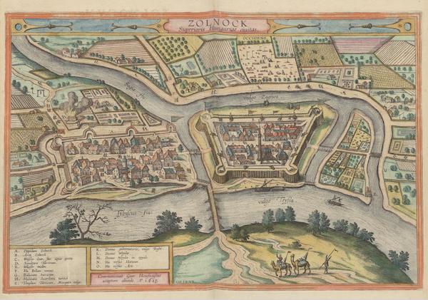 Civitates Orbis Terrarum Vol. 6 - Zolnock Superioris Hungariae Civitas (1617)