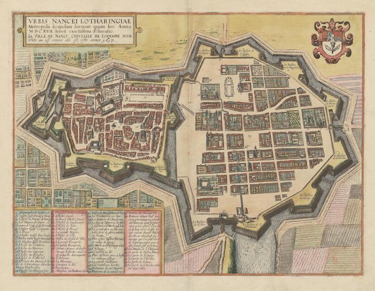 Vrbs Nancei Lotharingiae et La Ville De Nancy 1617