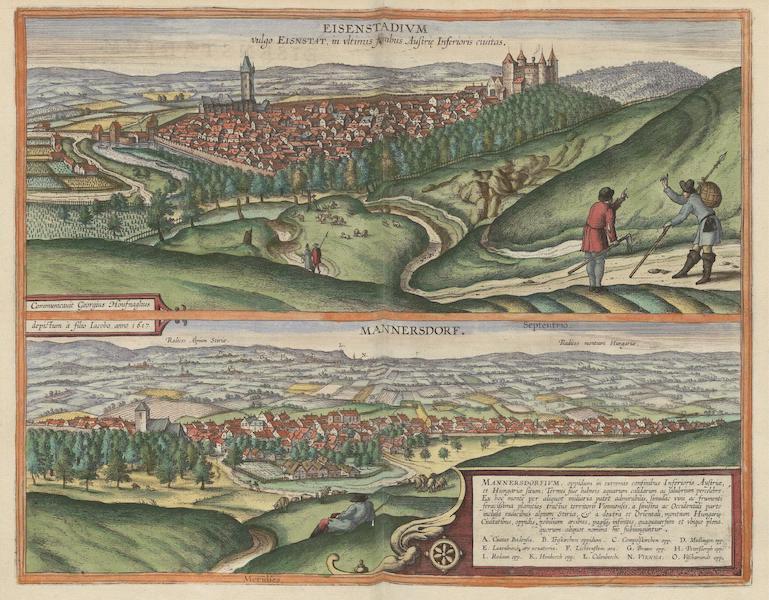 Civitates Orbis Terrarum Vol. 6 - Eisenstadivm Vulgo Eisnstat et Mannersdorf 1617 (1617)