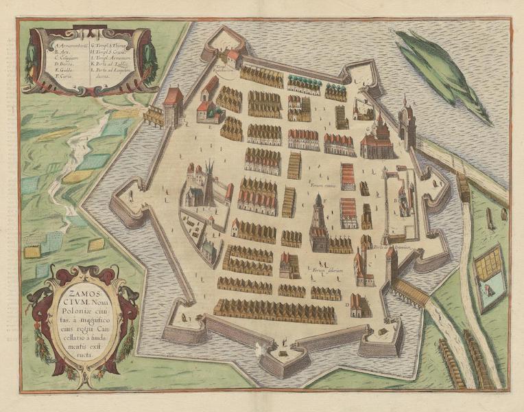 Civitates Orbis Terrarum Vol. 6 - Zamoscivm Noua Poloniae Ciuitas (1617)