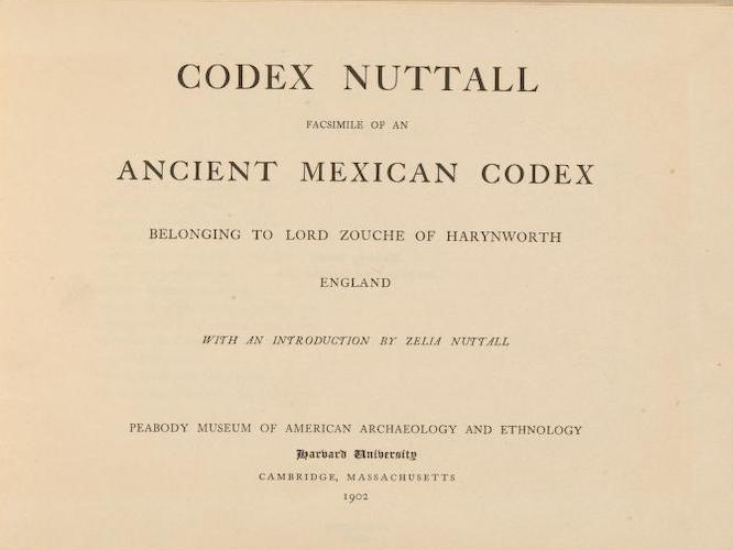 English - Codex Nuttall