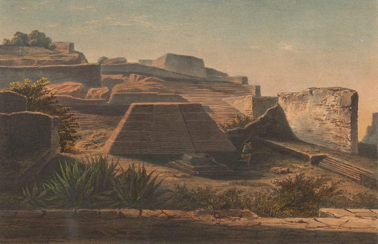 Coleccion de las Antiguedades Mexicanas - Interior del Templo A II, Plan de las Ruinas de la Quemada (1827)