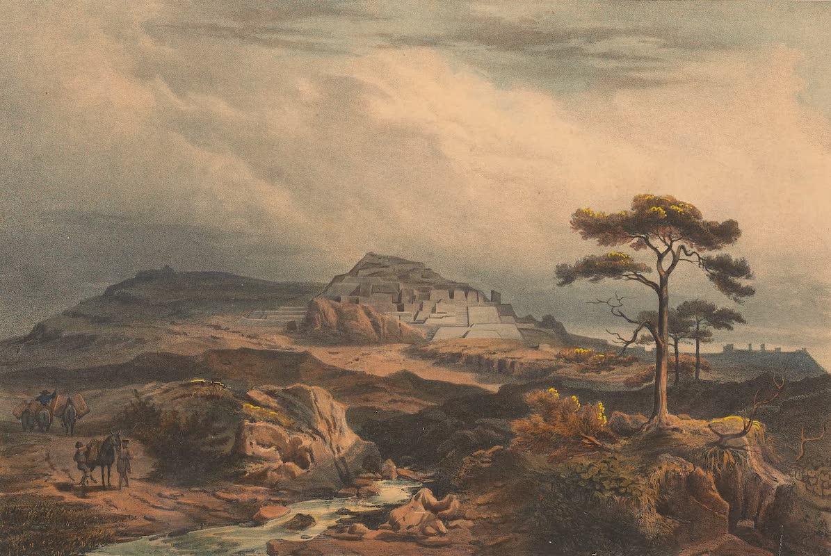 Coleccion de las Antiguedades Mexicanas - Vista General de las Ruinas de la Quemada (1827)