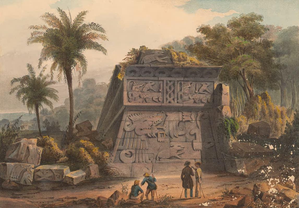 Coleccion de las Antiguedades Mexicanas - Ruinas de la Piramide de Xochicalco (1827)