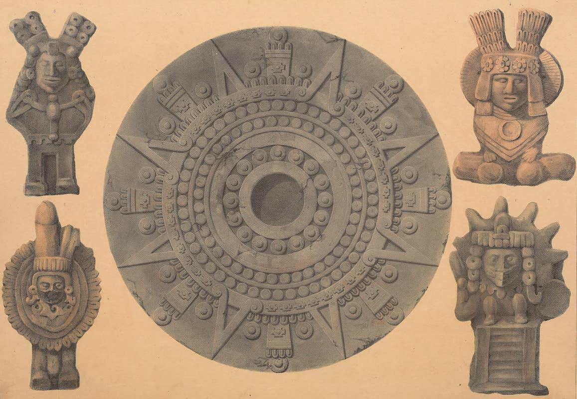 Coleccion de las Antiguedades Mexicanas - Calendar Wheel and Idols (1827)
