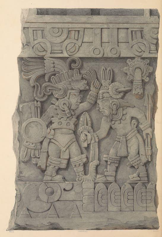 Coleccion de las Antiguedades Mexicanas - Grupo de la Piedra de Sacrificio de Tamano Medio Natural (1827)