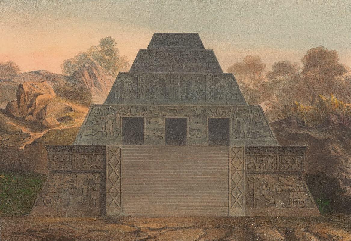 Coleccion de las Antiguedades Mexicanas - Restauracion de la Piramide de Xochicalco (1827)