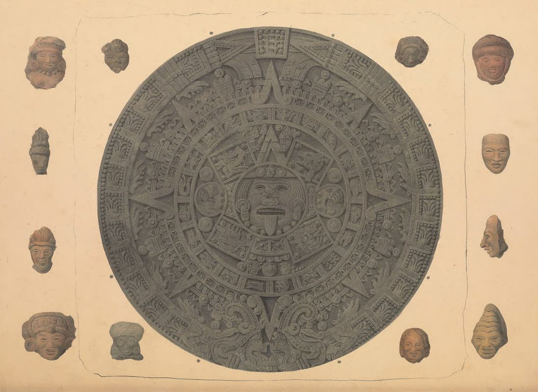 Coleccion de las Antiguedades Mexicanas - Aztec Calendar Wheel (1827)